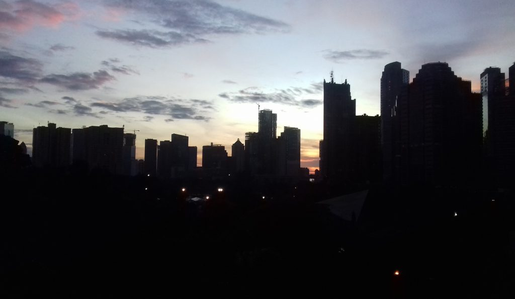 Sunrise in Century Park Hotel, Jakarta
